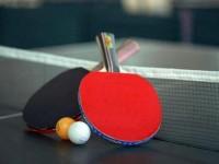 开始乒乓球练习